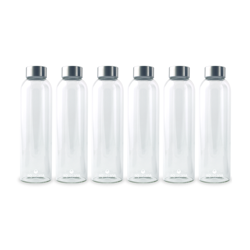 Premium Glass Water Bottle - 6 Pack image number 0