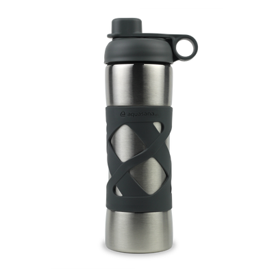 Stainless Steel Insulated Clean Water Bottle - Charcoal