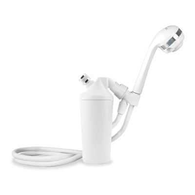 Shower Filter with Handheld Wand - White