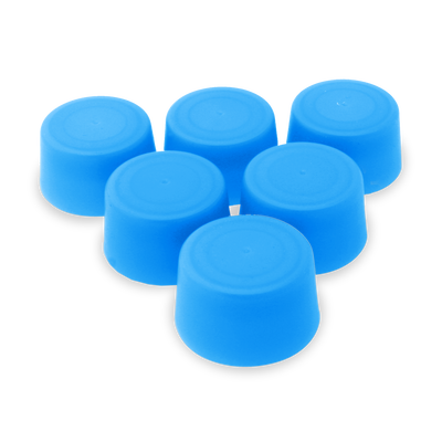 Replacement Water Bottle Caps - 6 Pack - Translucent Blue