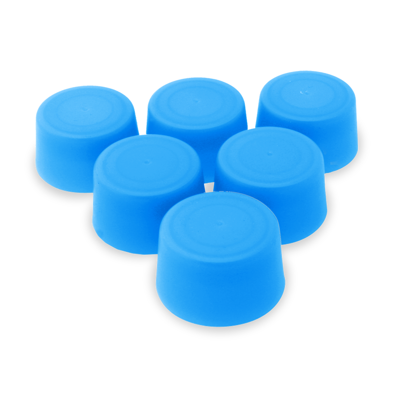 Replacement Water Bottle Caps - 6 Pack - Translucent Blue image number 0