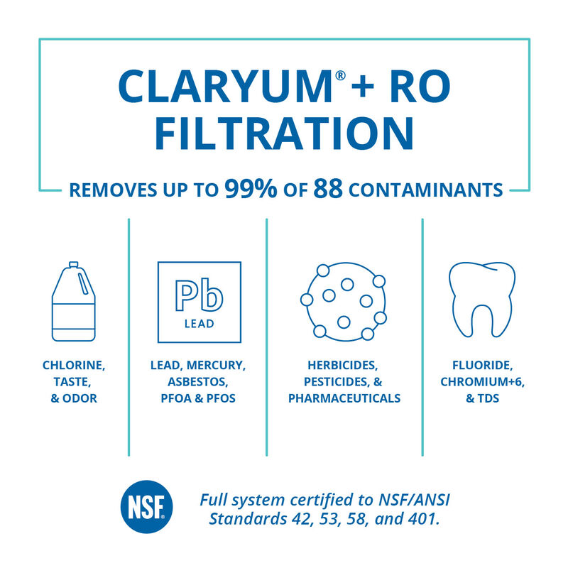 OptimH2O® Reverse Osmosis + Claryum® - Chrome image number 1