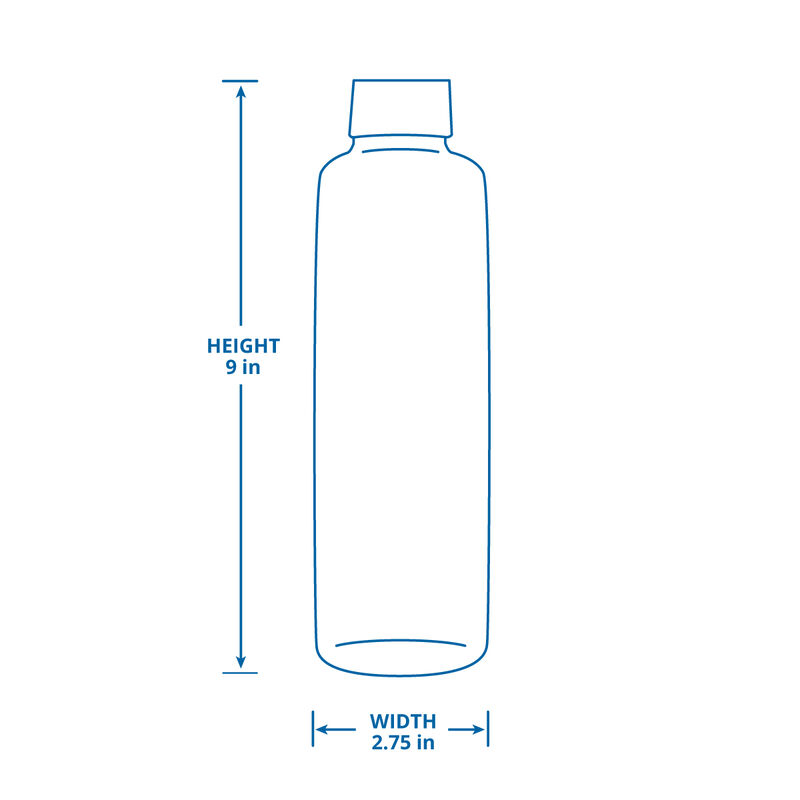 Premium Glass Water Bottle with Sleeve - 6 Pack - Multicolor image number 1