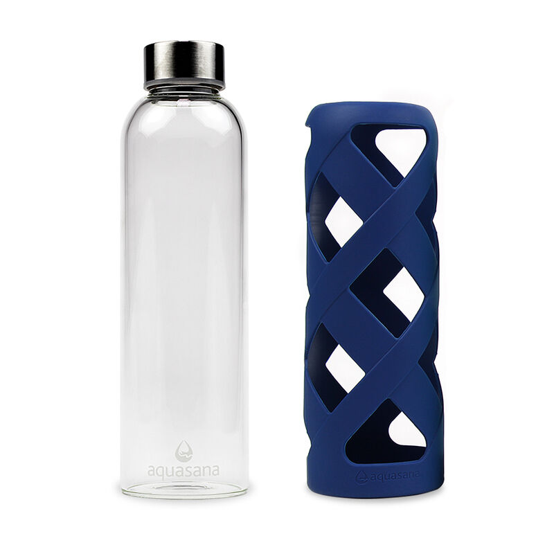 Premium Glass Water Bottle with Sleeve - Glacier image number 1