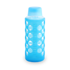 Glass Water Bottle with Sleeve - Translucent Blue image number 0