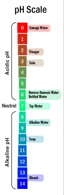 pH scale for Alkaline Water